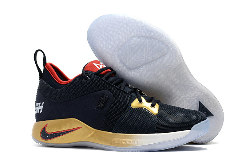 2018 Cheap Nike PG 2  Paul George Gold Black Red On VaporMaxRunning