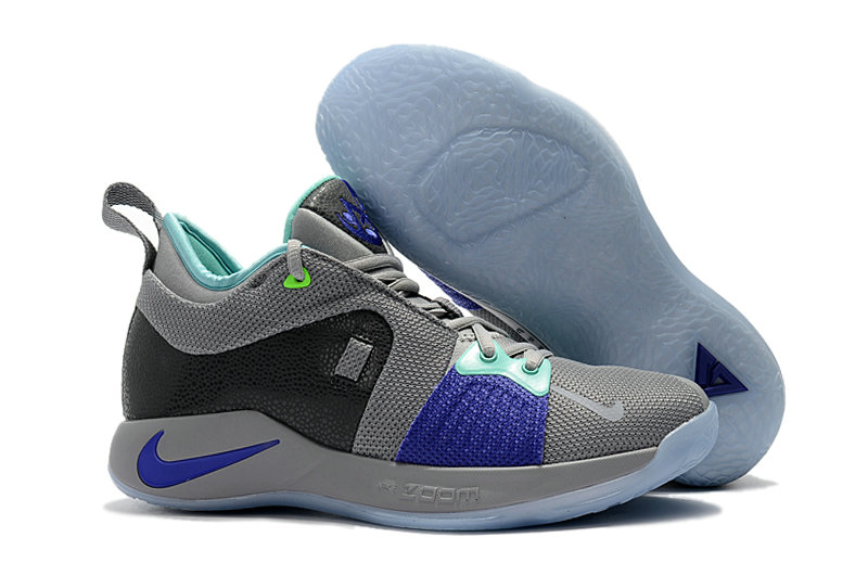 2018 Cheap Nike PG 2  Paul George Grey Blue On VaporMaxRunning