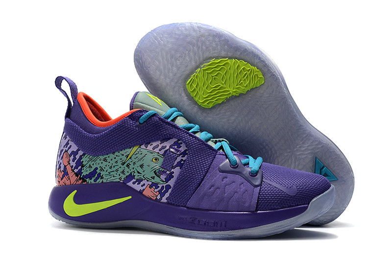 2018 Cheap Nike PG 2  Paul George Purple Green On VaporMaxRunning