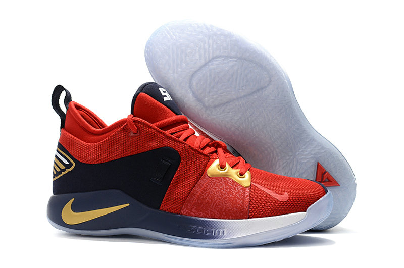 2018 Cheap Nike PG 2  Paul George Red Gold White Black On VaporMaxRunning