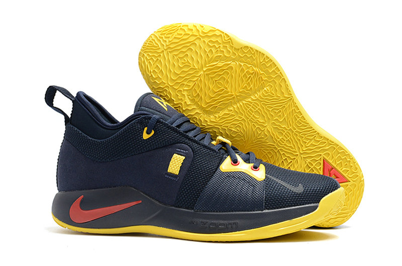 2018 Cheap Nike PG 2  Paul George Red Navy Blue Yellow On VaporMaxRunning