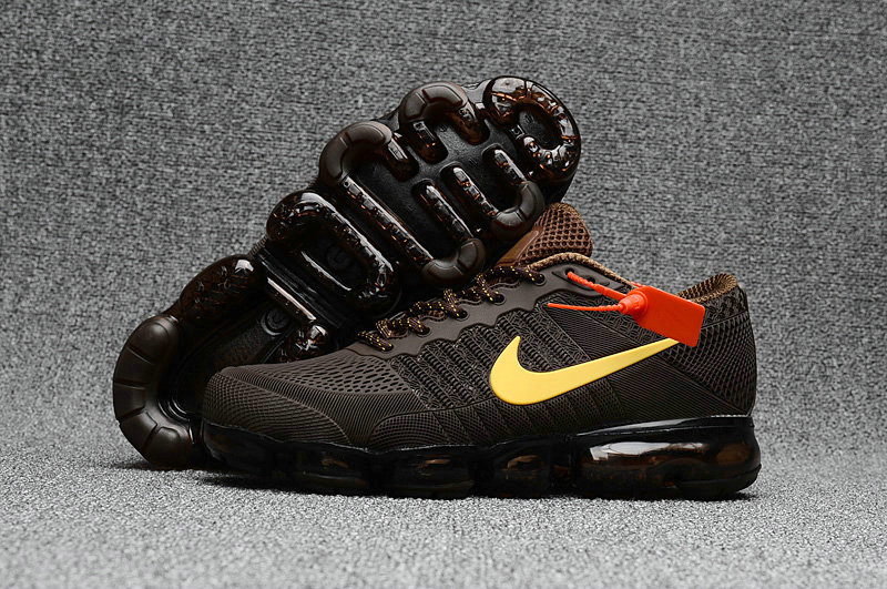 2018 New Air Max Cheap Nike Air Max 2018 Brown Yellow On VaporMaxRunning