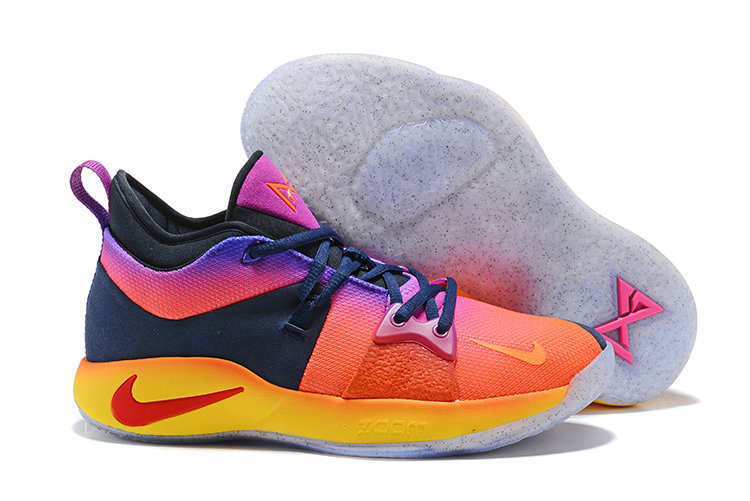 2018 Cheap Nike Zoom PG 2 Pink Yellow Blue Purple On VaporMaxRunning