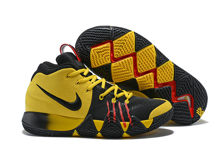 2018 Nike Kyrie Shoes x Cheap Nike Kyrie 4 Bruce Lee Yellow Black Red On VaporMaxRunning