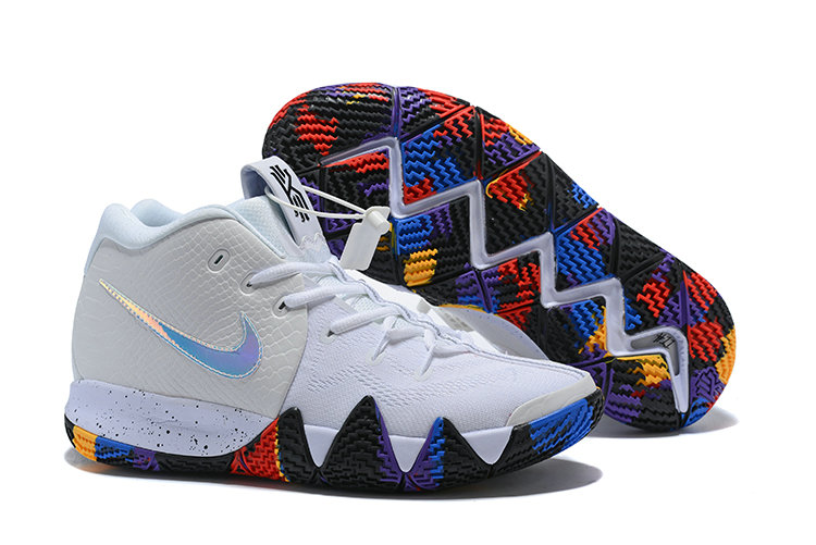 2018 Nike Kyrie Shoes x Cheap Nike Kyrie 4 March Madness White Multi-Color On VaporMaxRunning