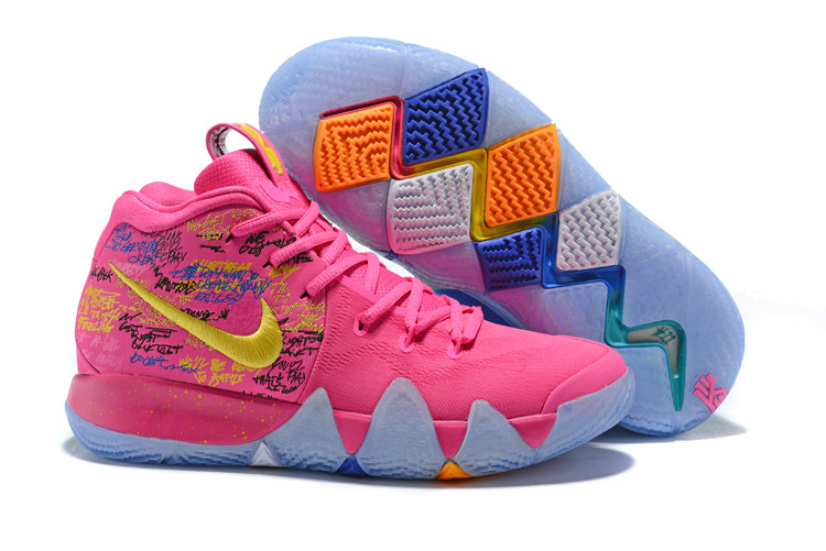 2018 Nike Kyrie Shoes x Cheap Nike Kyrie 4 What The Pink Teal Christmas On VaporMaxRunning