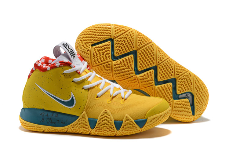 2018 Nike Kyrie Shoes x Cheap Nike Kyrie 4 Yellow Lobster On VaporMaxRunning