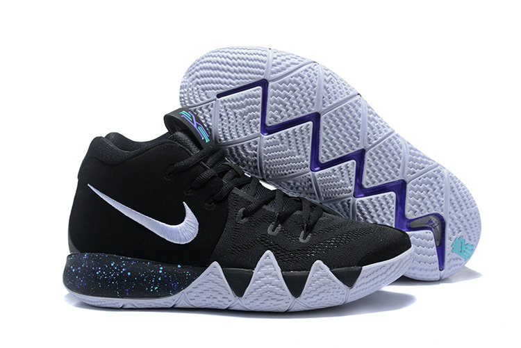 2018 Nike Kyrie Shoes x Cheap Womens Kyrie 4 Black White-Anthracite-Light Racer Blue 943806-002 On VaporMaxRunning