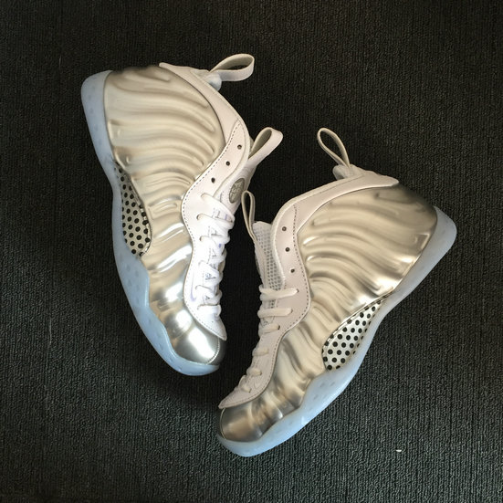 2018 Nike Air Foamposite Pro Silver Grey White Cheap Sale On VaporMaxRunning