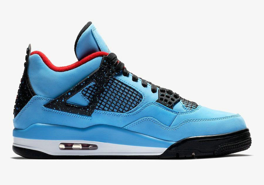2018 Nike Air Jordan 4 Sky Blue Black Red Cheap Sale On VaporMaxRunning