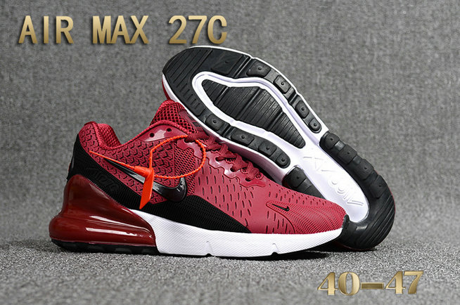 check out 24b99 65916 2018 Nike Air Max 270 Burgundy Black White Red Mens Cheap Online On  VaporMaxRunning
