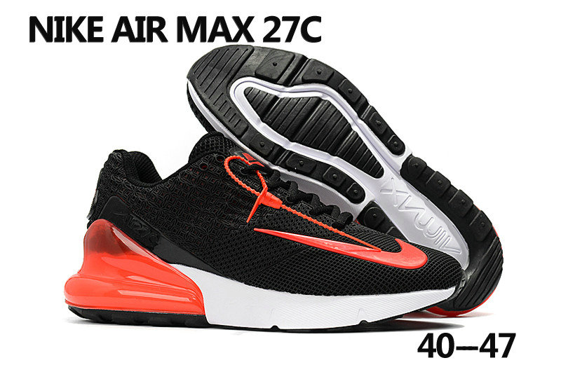 2018 Nike Air Max 270 Rubble Patch Black Red White Cheap Sale On VaporMaxRunning