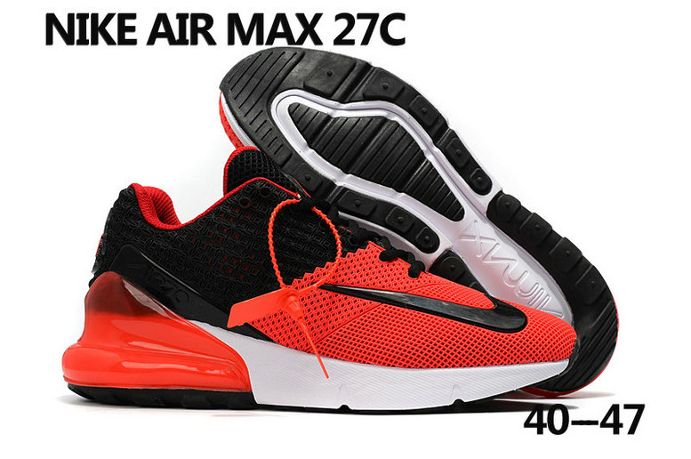 2018 Nike Air Max 270 Rubble Patch Red White Black Cheap Sale On VaporMaxRunning