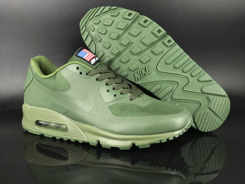 2018 Nike Air Max 90 Hyperfuse SneakerBoot Apple Green Cheap Sale On VaporMaxRunning