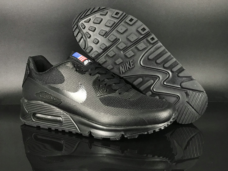 2018 Nike Air Max 90 Hyperfuse SneakerBoot Black Cheap Sale On VaporMaxRunning