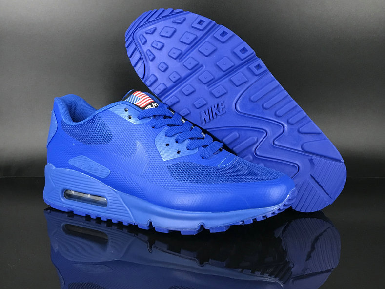 2018 Nike Air Max 90 Hyperfuse SneakerBoot Blue Cheap Sale On VaporMaxRunning
