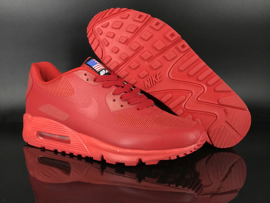 2018 Nike Air Max 90 Hyperfuse SneakerBoot Red Cheap Sale On VaporMaxRunning