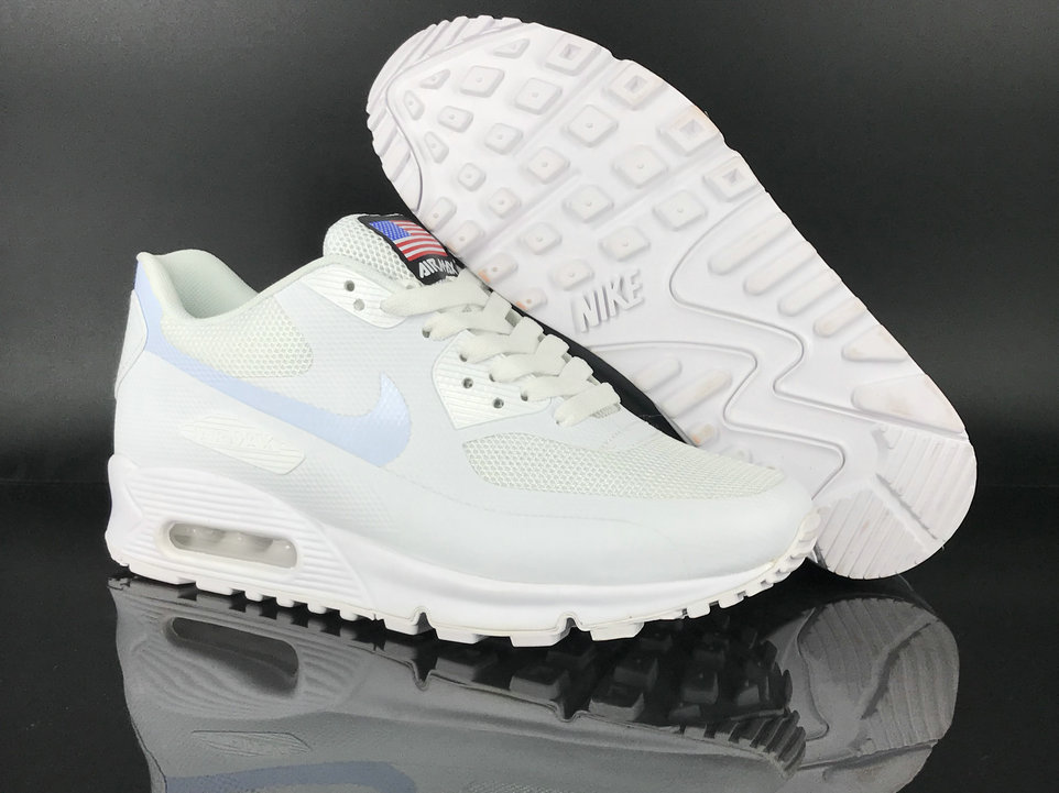 2018 Nike Air Max 90 Hyperfuse SneakerBoot White Cheap Sale On VaporMaxRunning