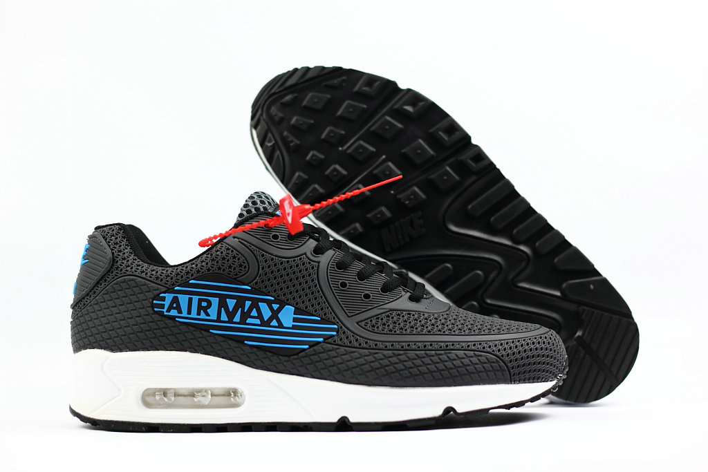 2018 Nike Air Max 90 SneakerBoot Grey Blue White Black Cheap Sale On VaporMaxRunning