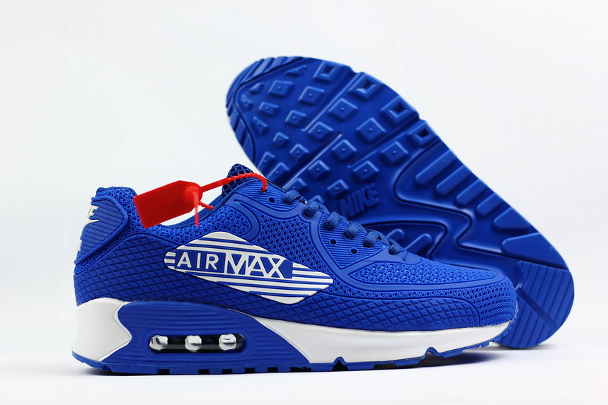 2018 Nike Air Max 90 SneakerBoot Royal Blue White Cheap Sale On VaporMaxRunning