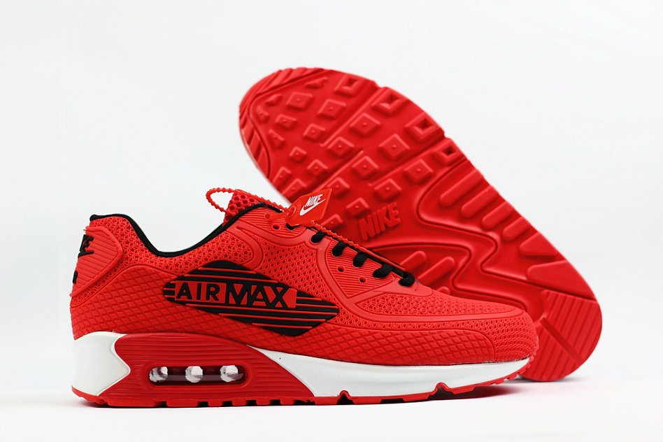 2018 Nike Air Max 90 SneakerBoot University Red White Cheap Sale On VaporMaxRunning