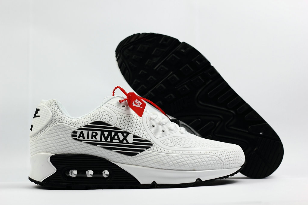 2018 Nike Air Max 90 SneakerBoot White Black Cheap Sale On VaporMaxRunning
