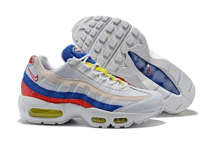 2018 Nike Air Max 95 SneakerBoots Red Blue White Gold Cheap Sale On VaporMaxRunning