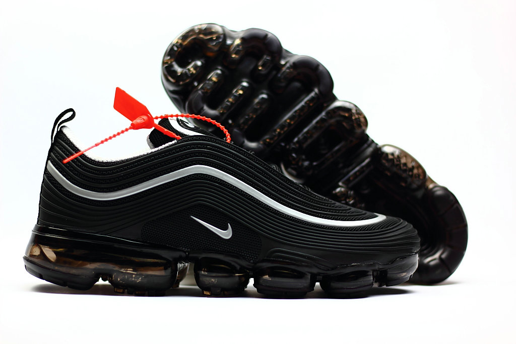 2018 Nike Air Max 97 Ultra VaporMax Black White Gold On