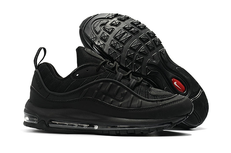 2018 Nike Air Max 98 Colorways All Black Cheap Sale On VaporMaxRunning