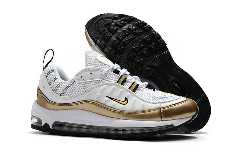 2018 Nike Air Max 98 Colorways Gold White Cheap Sale On VaporMaxRunning