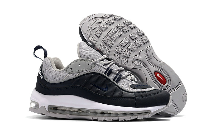 2018 Nike Air Max 98 Colorways Red Grey Navy Blue Cheap Sale On VaporMaxRunning