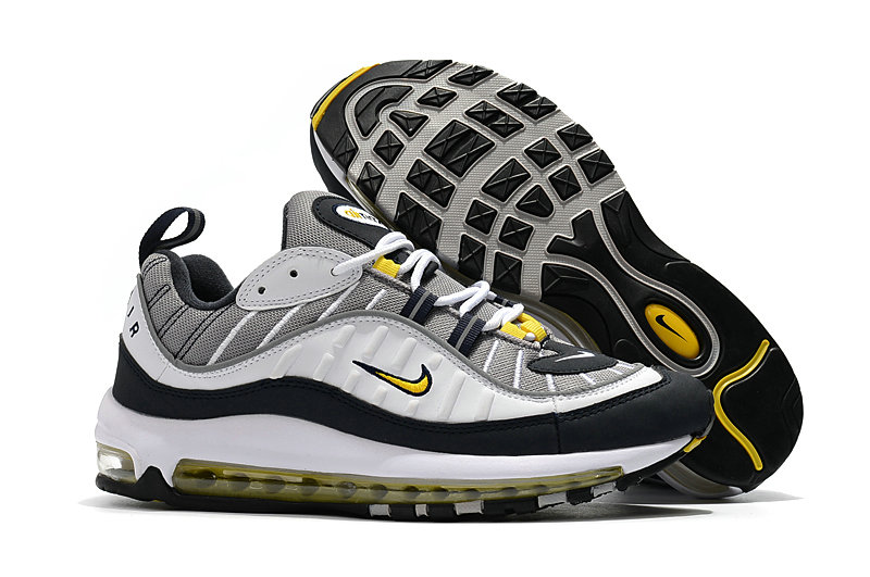 2018 Nike Air Max 98 Colorways Yellow Grey White Black Cheap Sale On VaporMaxRunning