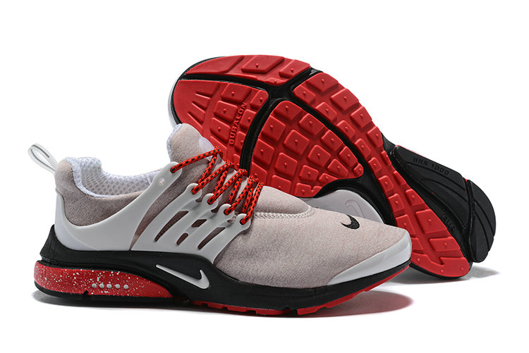 2018 Nike Air Presto BR QS Grey Red Black Cheap Sale On VaporMaxRunning