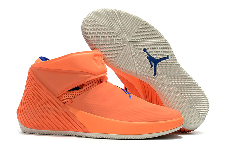 2018 Nike Cheap Air Jordan Why Not Zer0.1 Orange Blue White On VaporMaxRunning