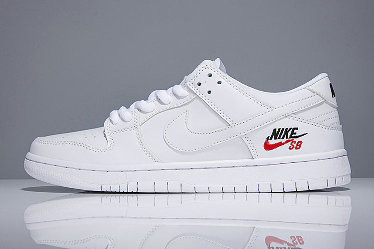 2018 Nike SB Dunk x Cheap Nike Dunk Low Elite SB Triple White On VaporMaxRunning