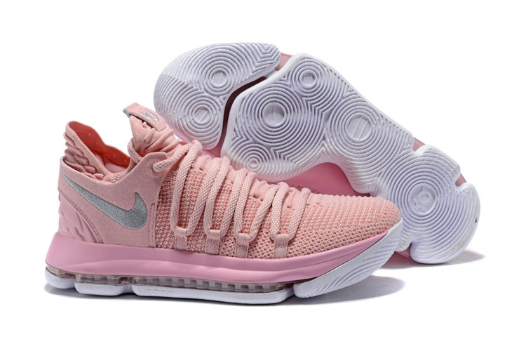 2018 Nike Kevin Durant x Cheap Nike KD 10 Aunt Pearl Pink Pearl White-Sail On VaporMaxRunning