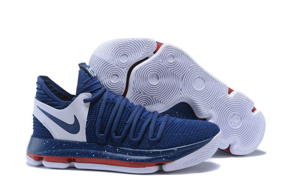 2018 Nike Kevin Durant x Cheap Nike KD 10 Game Blue White On VaporMaxRunning