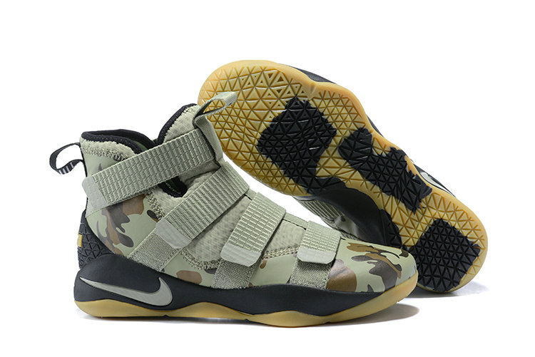 2018 Nike Lebron Soldier 11 XI Gold Army Green Cheap Sale On VaporMaxRunning