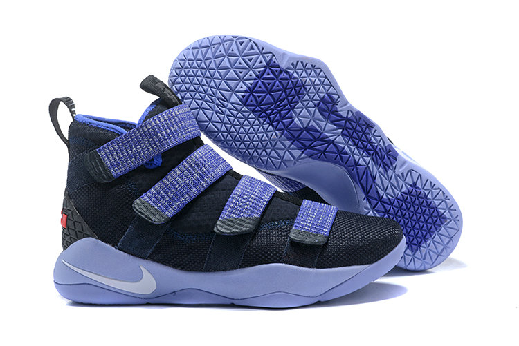 2018 Nike Lebron Soldier 11 XI Navy Blue Bright Cheap Sale On VaporMaxRunning