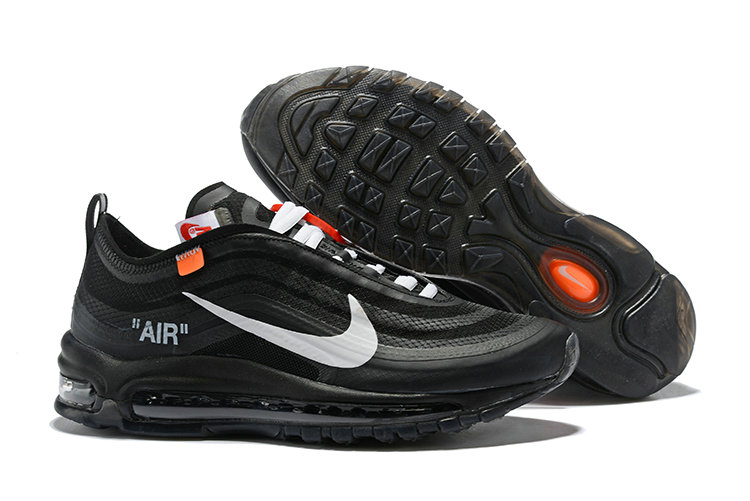 2018 Nike OFF-WHITE Air Max 97 SneakerBoots Grey Black Cheap Sale On VaporMaxRunning