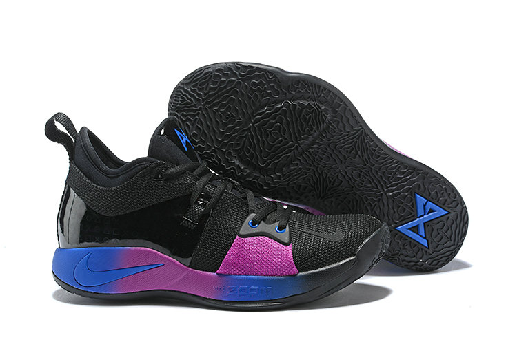 7b6d25bdbfe 2018 Nike Paul George 2 x Cheap Nike PG 2 Black Purple Blue On  VaporMaxRunning