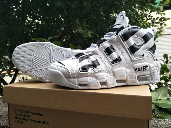 2018 Nike Air Uptempo x Cheap Nike Air More Uptempo x OFF WHITE Black White On VaporMaxRunning