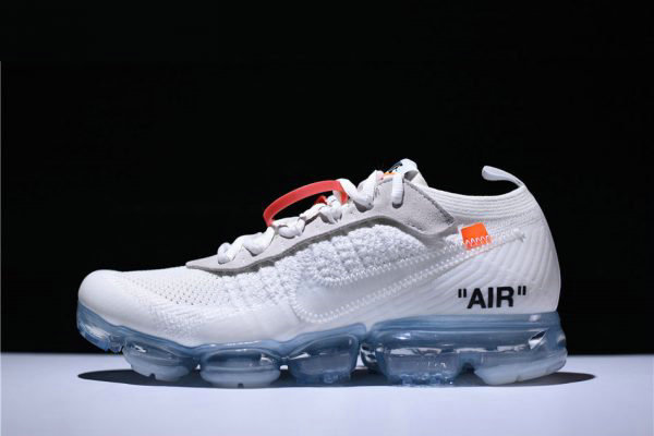 Cheap 2018 Virgil Abloh Off-White x Nike Air VaporMax White Black Total Orange AA3831-100 On VaporMaxRunning
