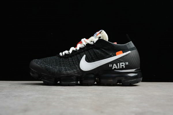 Cheap 2018 Virgil Ablohs Nike Air Vapormax FK OFF-WHITE Black White-Clear AA3831-001 On VaporMaxRunning