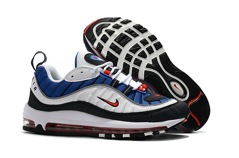 2018 Womens Nike Air Max 98 Colorways Blue Red White Black Cheap Sale On VaporMaxRunning