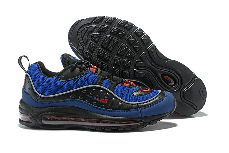 2018 Womens Nike Air Max 98 Colorways Navy Blue Red Black Cheap Sale On VaporMaxRunning