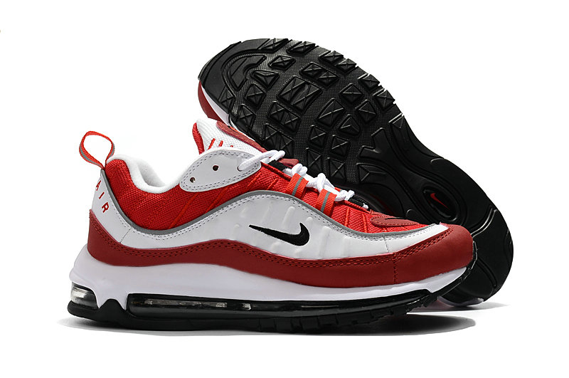 2018 Womens Nike Air Max 98 Colorways Red White Cheap Sale On VaporMaxRunning