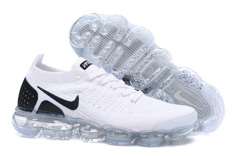 397a3fb5d626 2018 Womens Nike Air VaporMax Flyknit 2.0 White Black On VaporMaxRunning