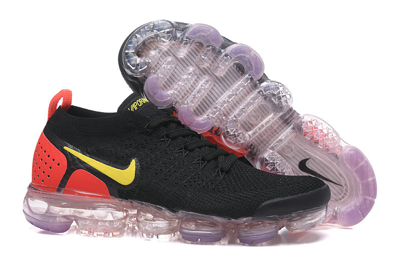ee14776ed0d3 2018 Womens Nike Air VaporMax Flyknit 2.0 Yellow Red Black On  VaporMaxRunning