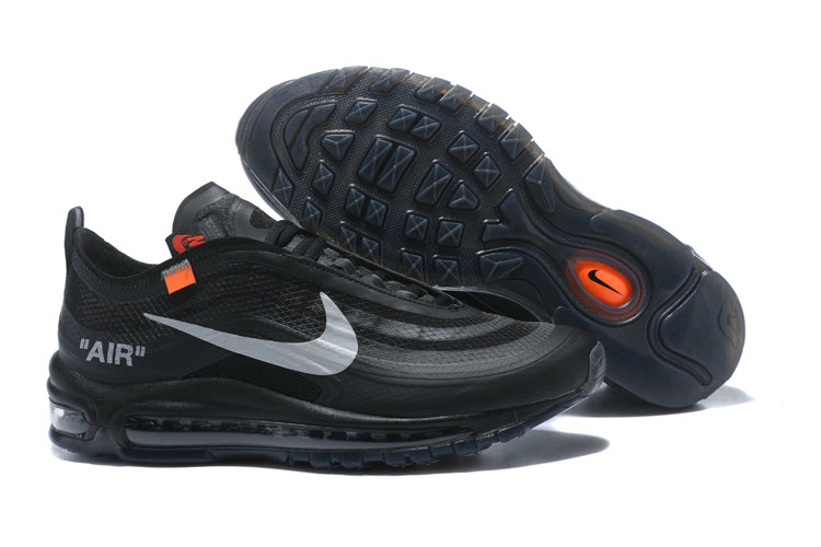 2018 Womens Nike OFF-WHITE Air Max 97 SneakerBoots Black Cheap Sale On VaporMaxRunning